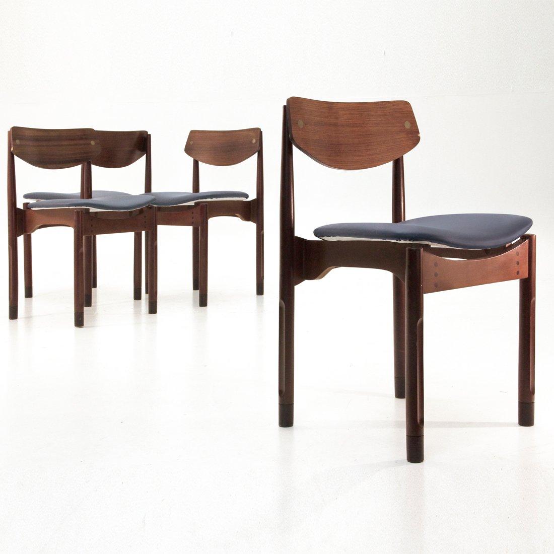 italienische palisander eco leder st hle 1950er 4er set bei pamono kaufen. Black Bedroom Furniture Sets. Home Design Ideas