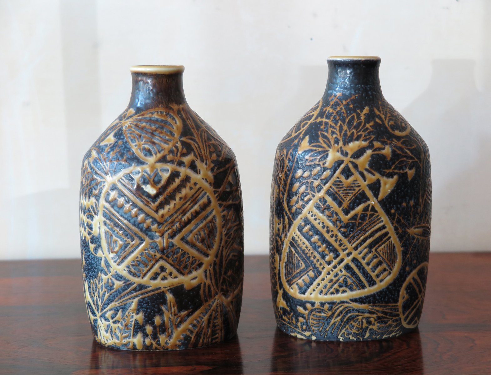 keramik vasen von royal copenaghen 1960er 2er set bei. Black Bedroom Furniture Sets. Home Design Ideas
