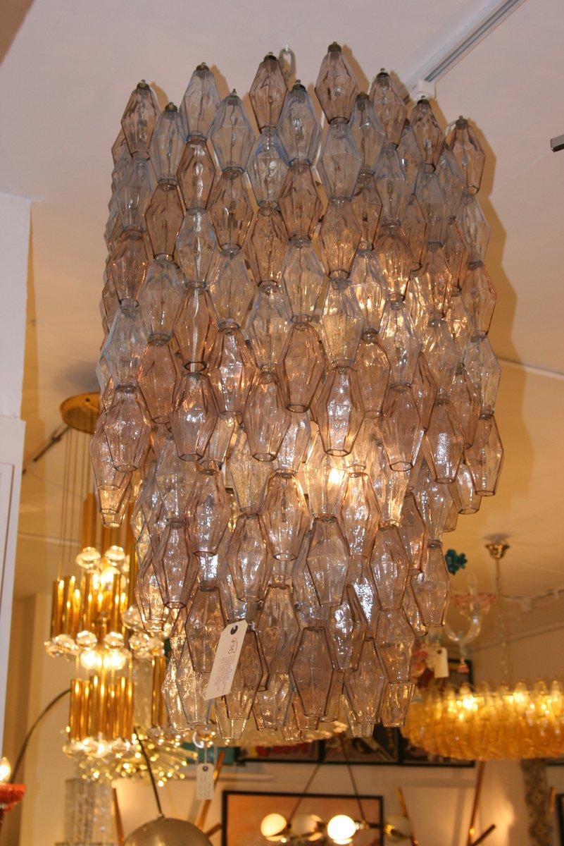 italian large hexagonal poliedri ceiling lightcarlo scarpa for