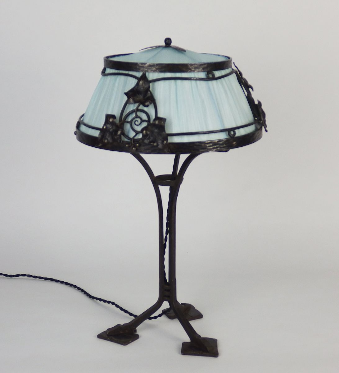 French Wrought Iron Table Lamp, 1910s For Sale At Pamono