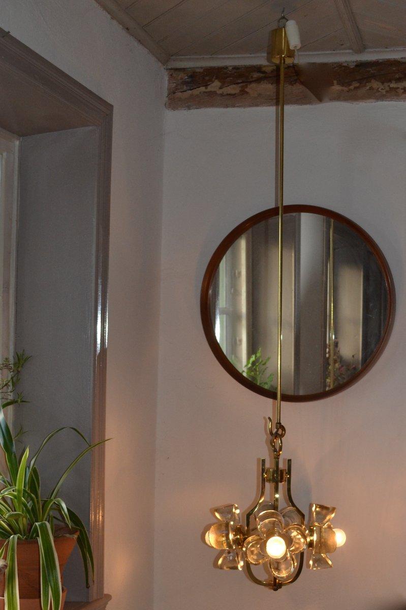 floraler glas kronleuchter von simon schelle 1960 bei. Black Bedroom Furniture Sets. Home Design Ideas