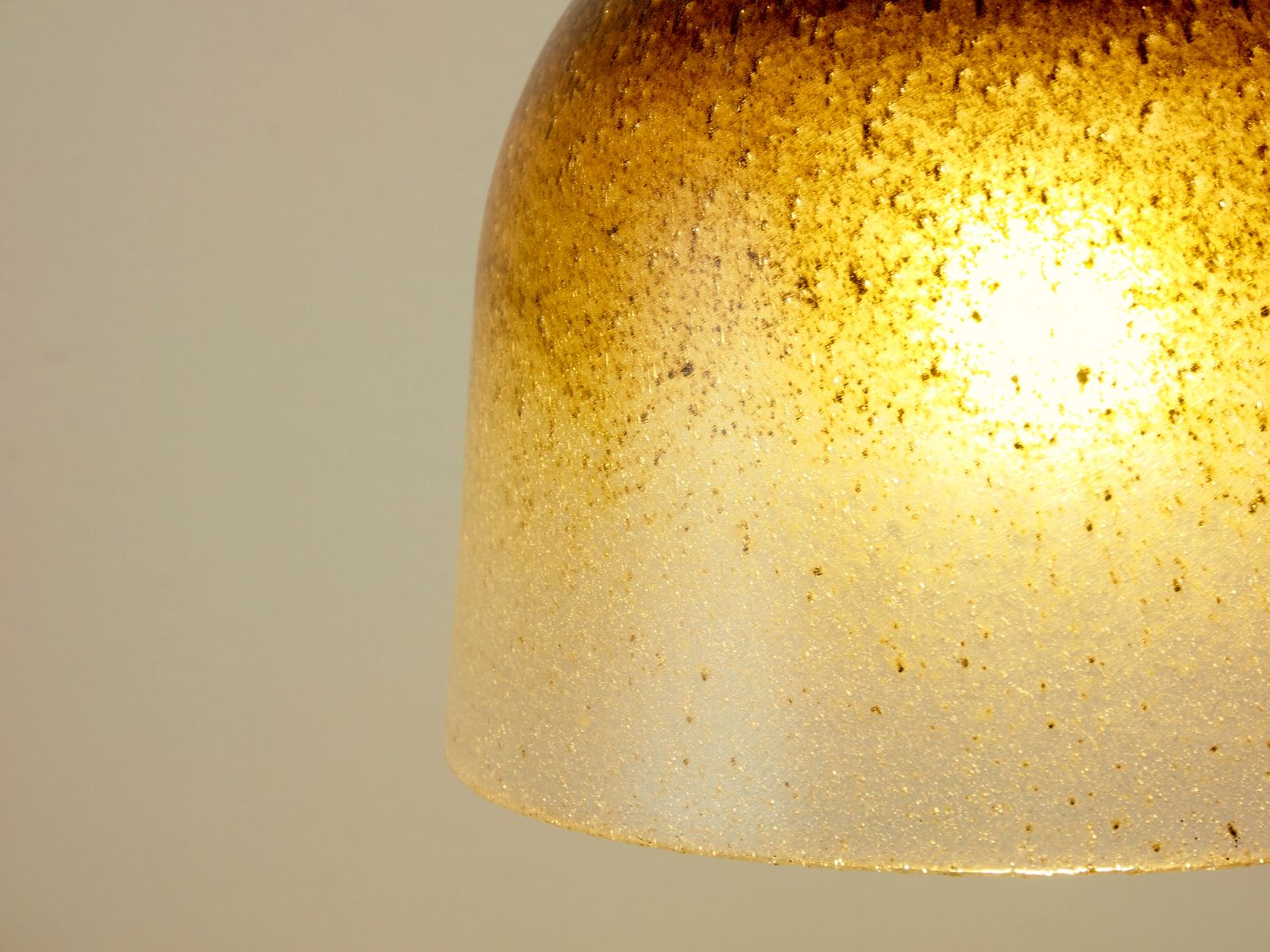 Vintage Hand Blown Glass Hanging Lamp From Peill Putzler For