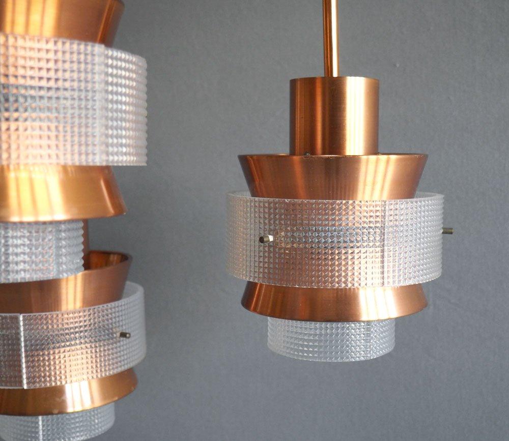 d nische kupfer h ngelampe mit drei leuchten bei pamono kaufen. Black Bedroom Furniture Sets. Home Design Ideas