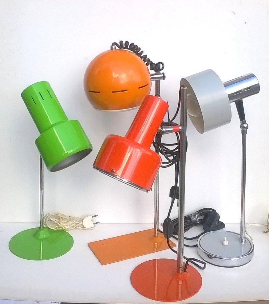 italienische pop lampen 1960er 4er set bei pamono kaufen. Black Bedroom Furniture Sets. Home Design Ideas