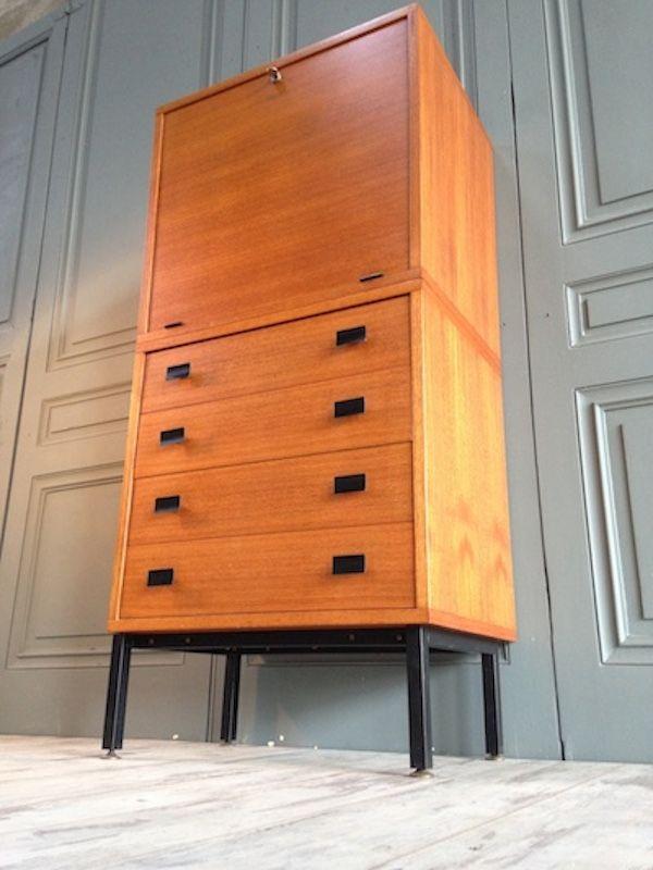 franz sischer vintage teak sekret r 1960er bei pamono kaufen. Black Bedroom Furniture Sets. Home Design Ideas