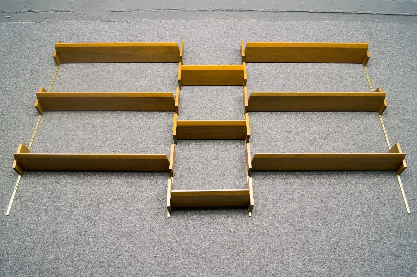 mid century wandregal von wk m bel bei pamono kaufen. Black Bedroom Furniture Sets. Home Design Ideas