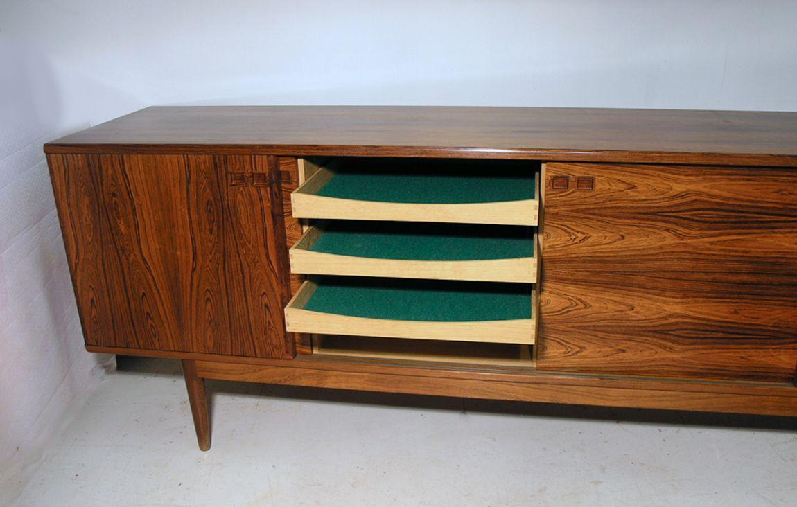 palisander sideboard von christian linneberg 1960er bei. Black Bedroom Furniture Sets. Home Design Ideas