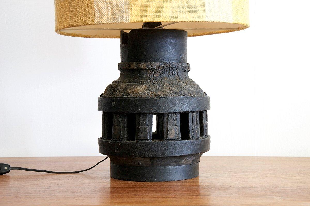 italienische vintage tischlampe aus holz eisen bei pamono kaufen. Black Bedroom Furniture Sets. Home Design Ideas