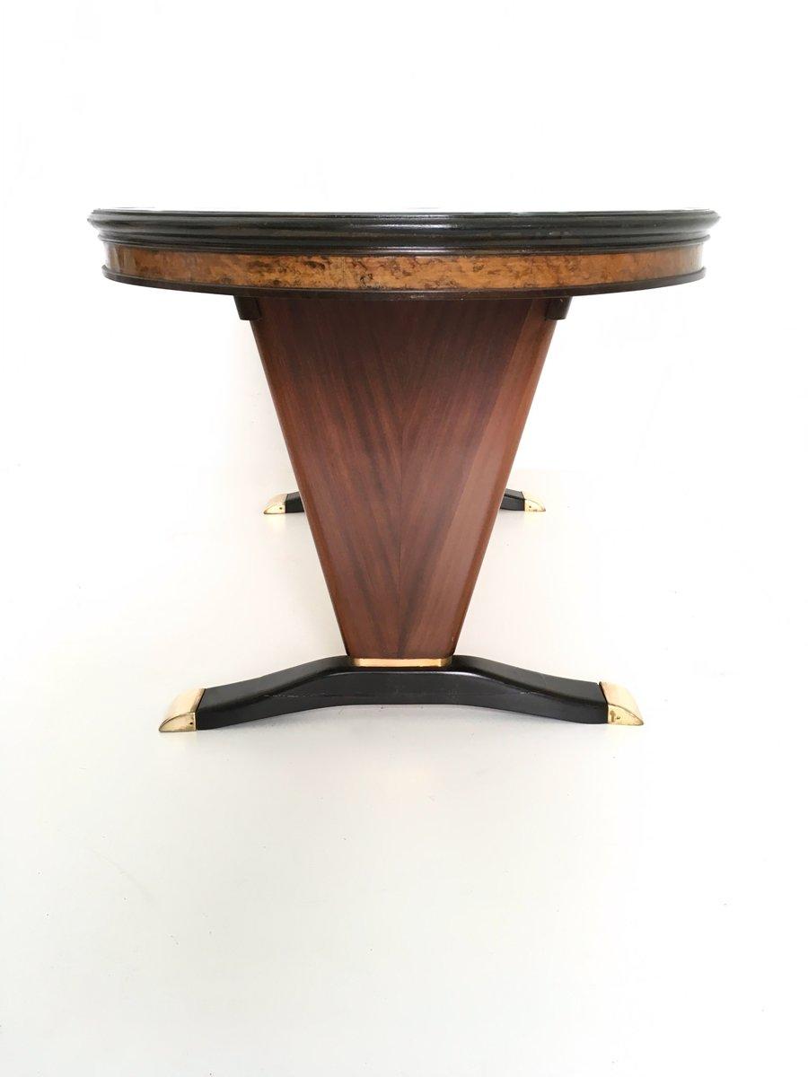 Table En Acajou Avec Plateau En Bois Noir Peint 1950s En Vente  # Bois D'Acajou Noir