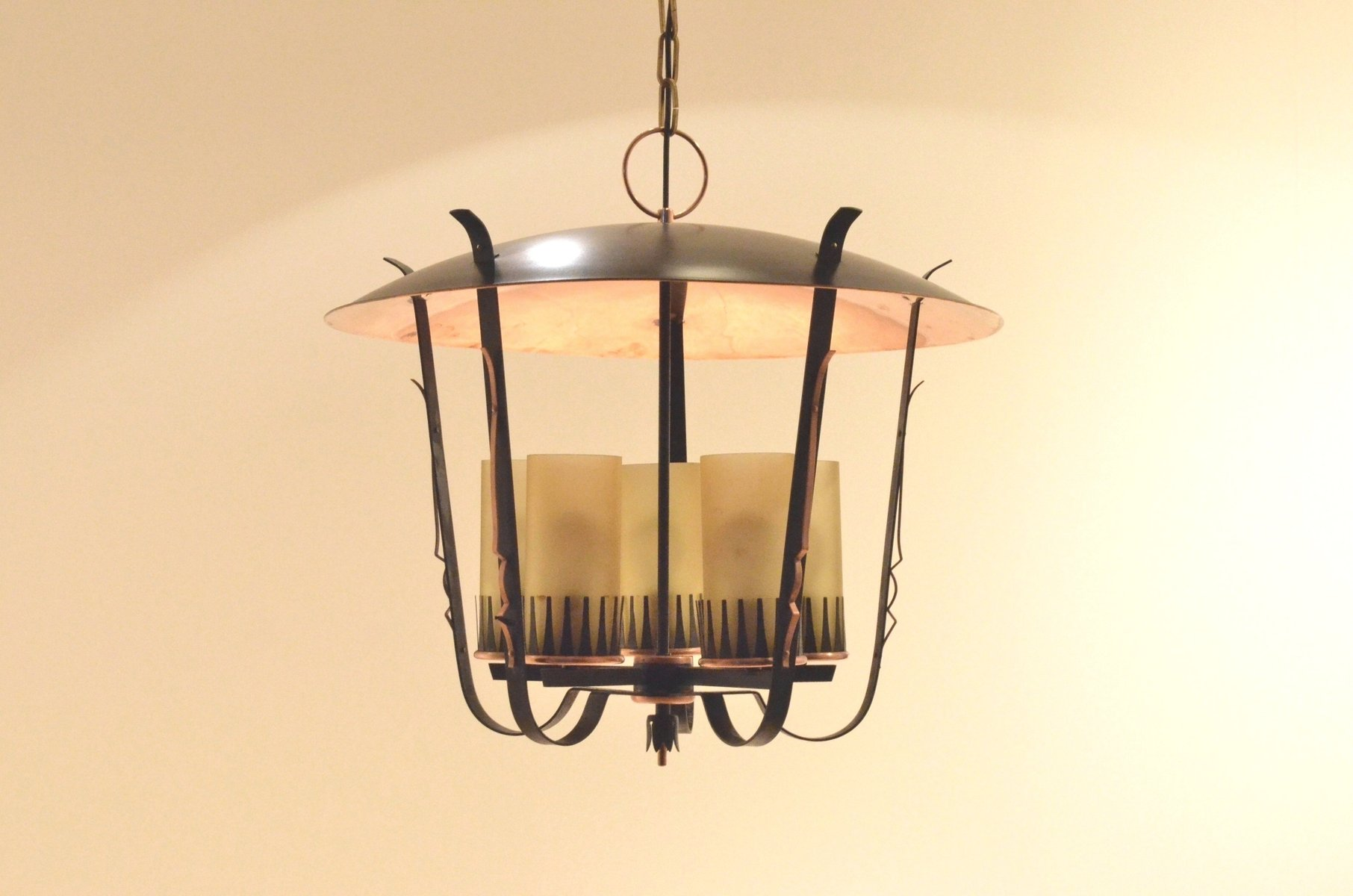 Art Deco Lantern Chandelier, 1940s for sale at Pamono