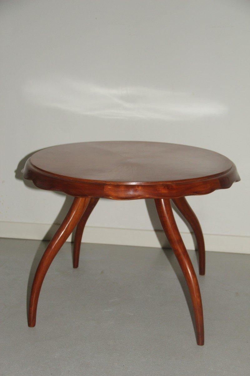 runder italienischer tisch mit gebogenen beinen 1940er bei pamono kaufen. Black Bedroom Furniture Sets. Home Design Ideas
