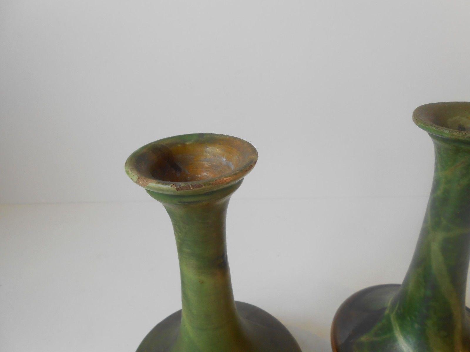 d nische polychrome keramik vasen von hermann august. Black Bedroom Furniture Sets. Home Design Ideas