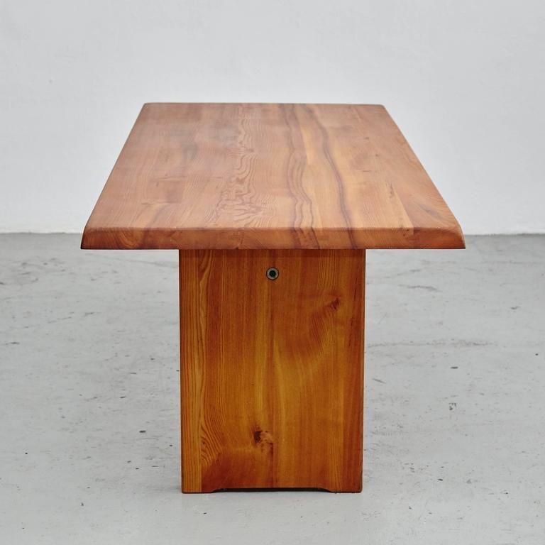 Grande table de salle manger par pierre chapo 1960s en for Salle a manger en pierre