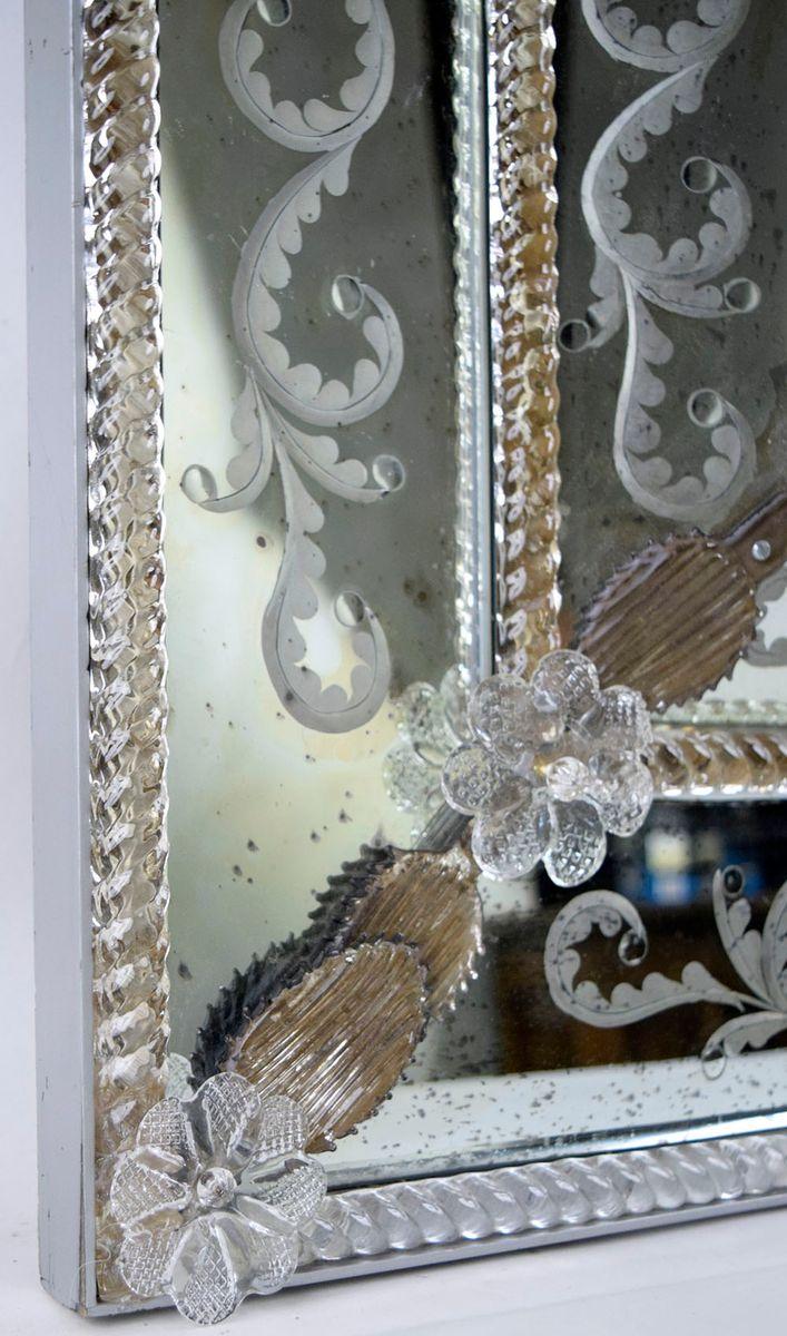 venezianischer ge tzter rechteckiger spiegel 1960er bei pamono kaufen. Black Bedroom Furniture Sets. Home Design Ideas