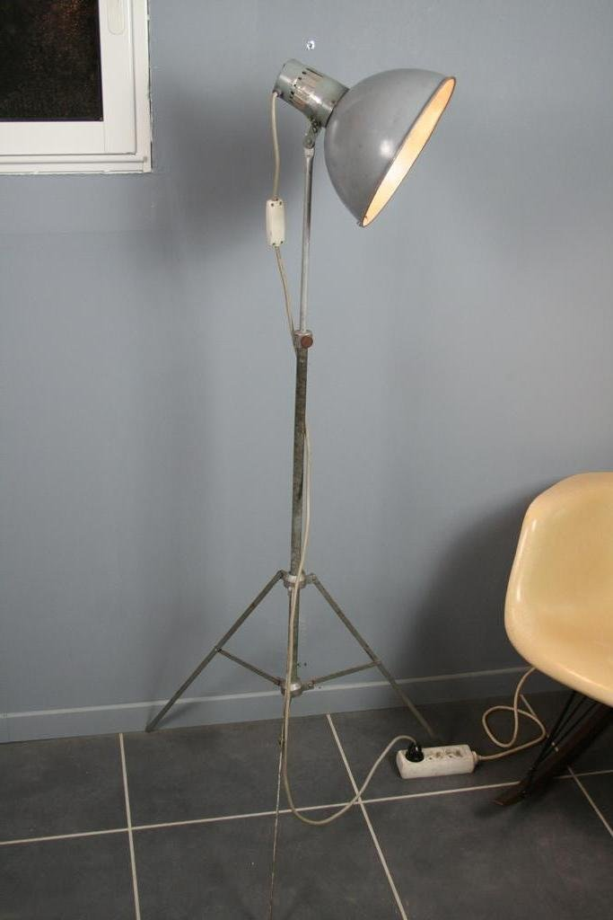 Grey Industrial Floor Lamp