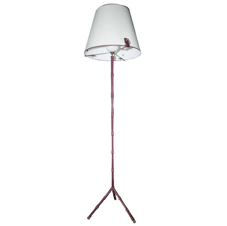French floor lamp by jacques adnet for hermes 1960s for for Floor in french translation