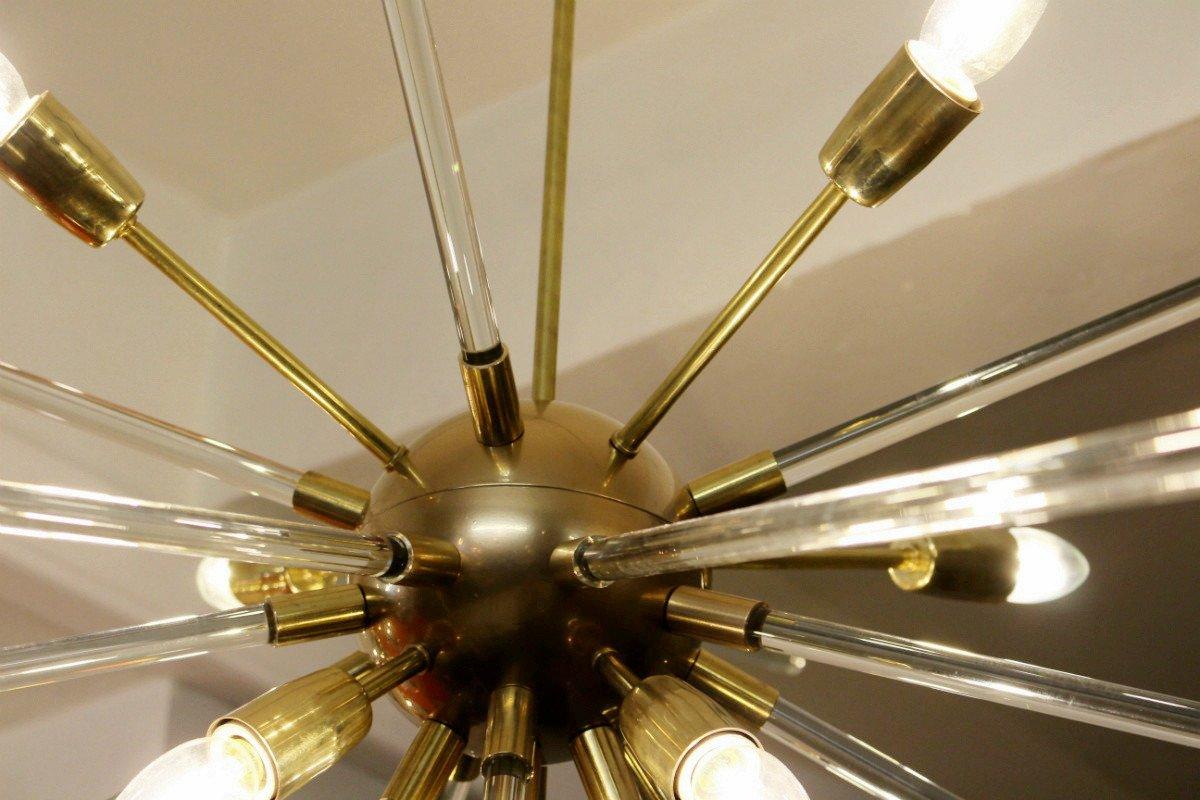 Sputnik deckenlampe aus messing glas 1960er bei pamono for Deckenlampe messing