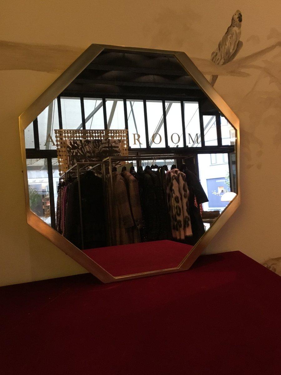 oktogonaler messing spiegel 1960er bei pamono kaufen. Black Bedroom Furniture Sets. Home Design Ideas