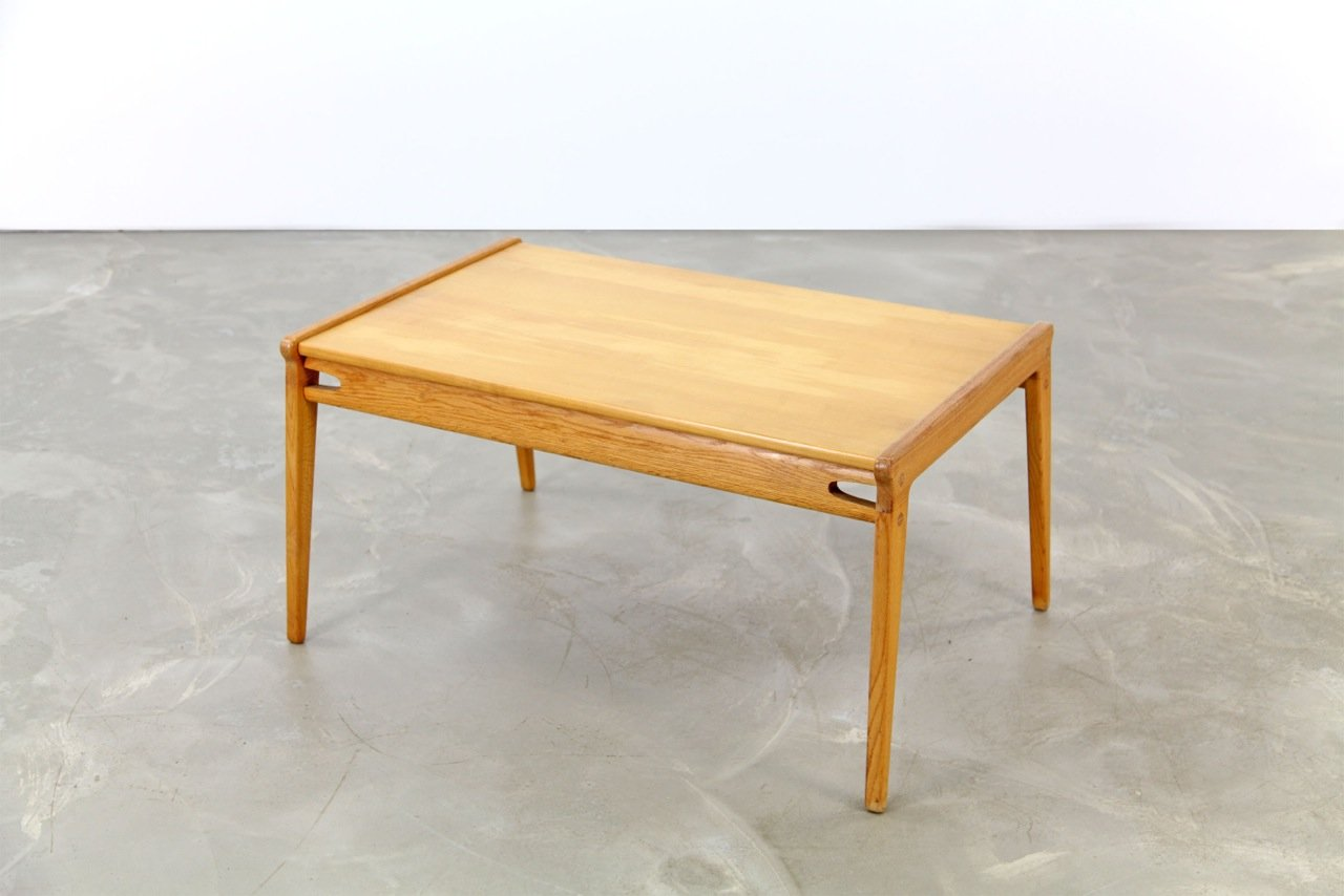 Mid century oak coffee table 1950s for sale at pamono for Oak coffee table