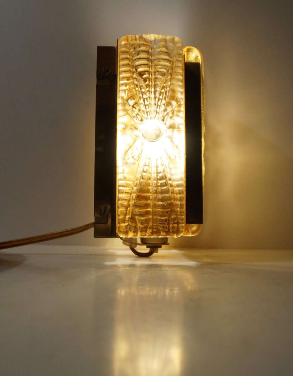 Aladdin amber glass brass wall sconce from vitrika 1960s for aladdin amber glass brass wall sconce from vitrika 1960s aloadofball Image collections