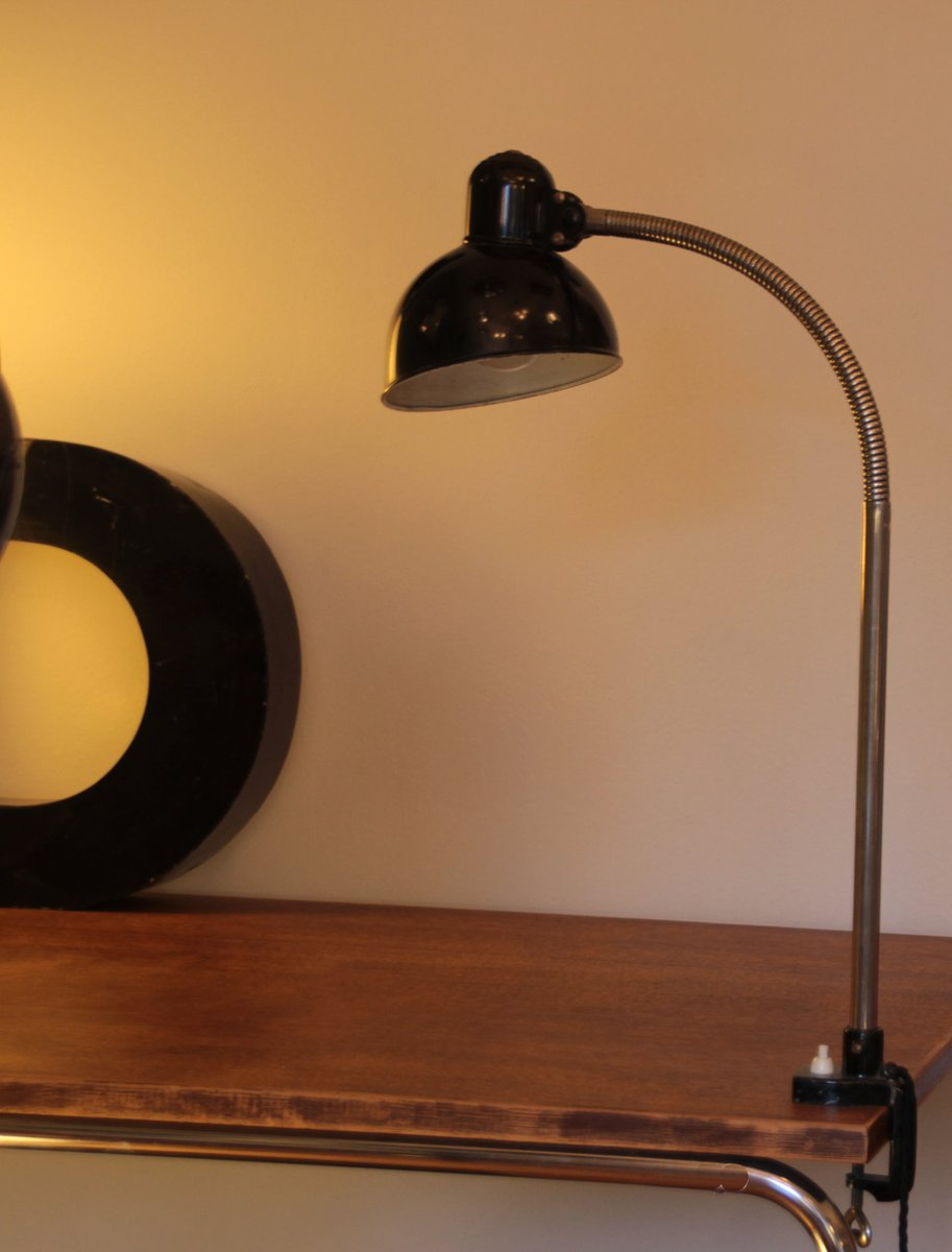 Vintage Desk Clamp Lamp With Swan Neck By Christian Dell For Kaiser Idell  For Sale At Pamono