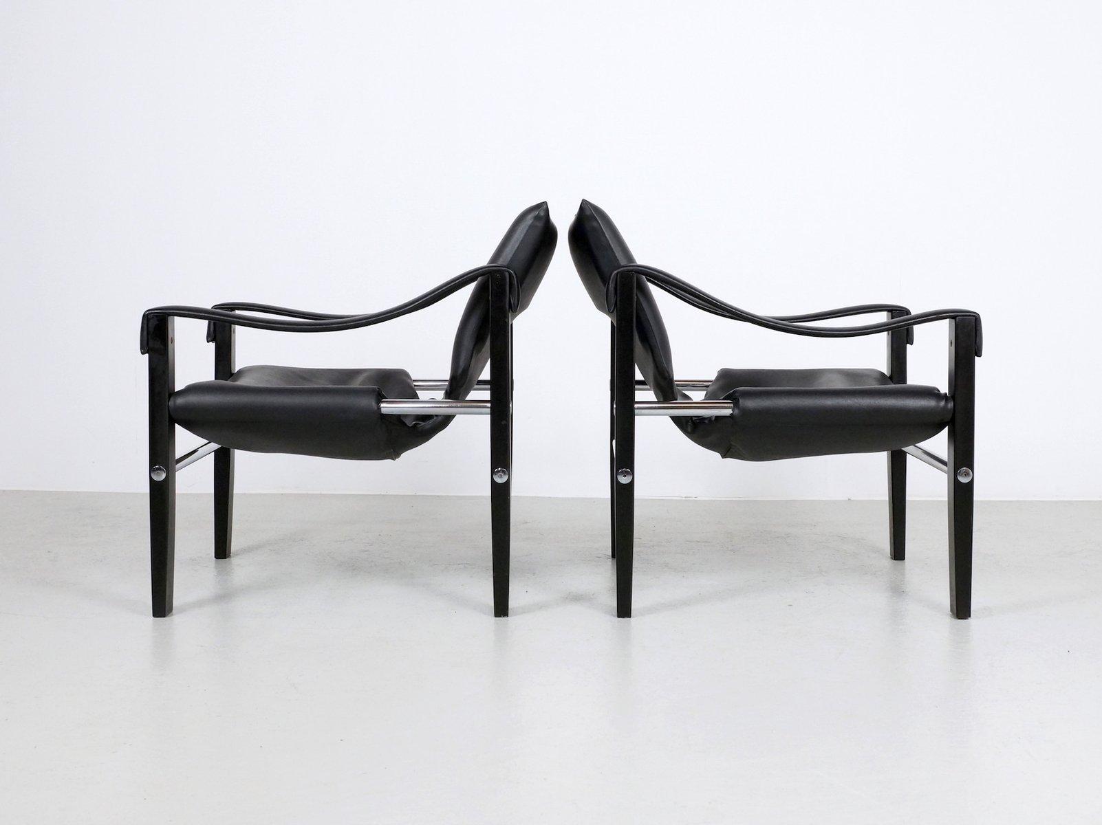 schwarze chelsea st hle von maurice burke f r arkana 2er. Black Bedroom Furniture Sets. Home Design Ideas