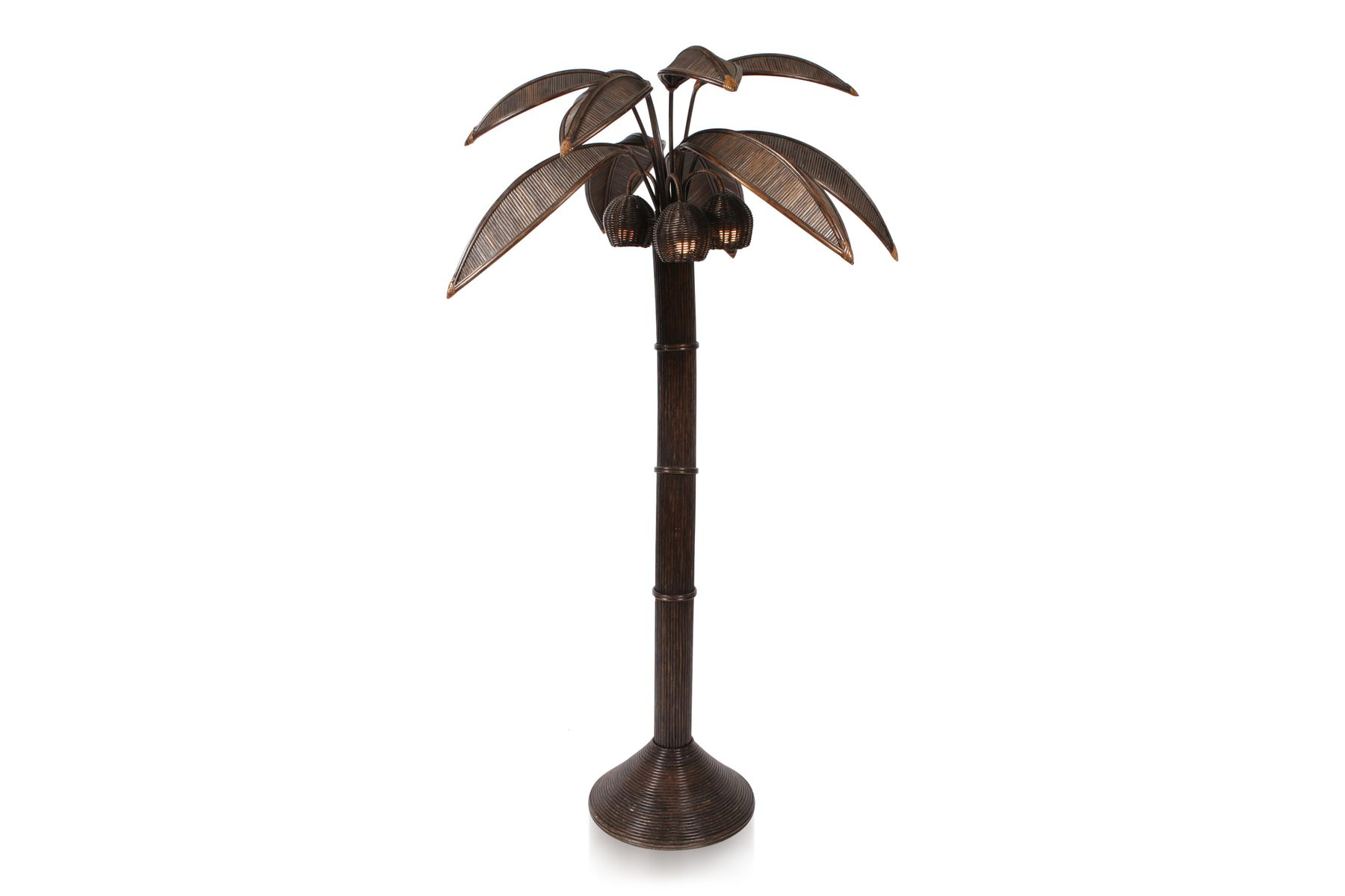 Palm tree floor lamp by mario lopez 1970s for sale at pamono palm tree floor lamp by mario lopez 1970s 6 588100 price per piece aloadofball Image collections