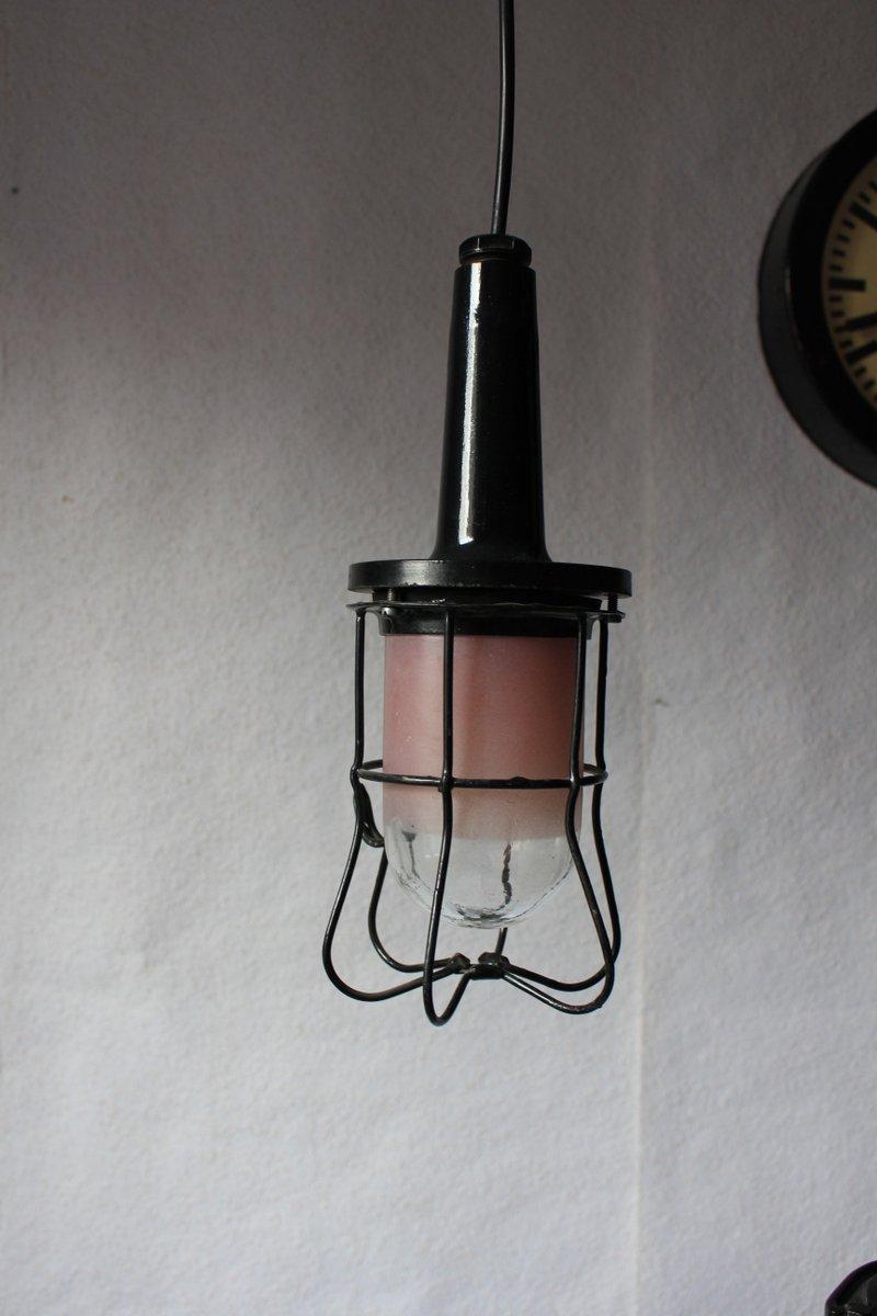 vintage industrie h ngelampe von prodryn 1979 bei pamono kaufen. Black Bedroom Furniture Sets. Home Design Ideas