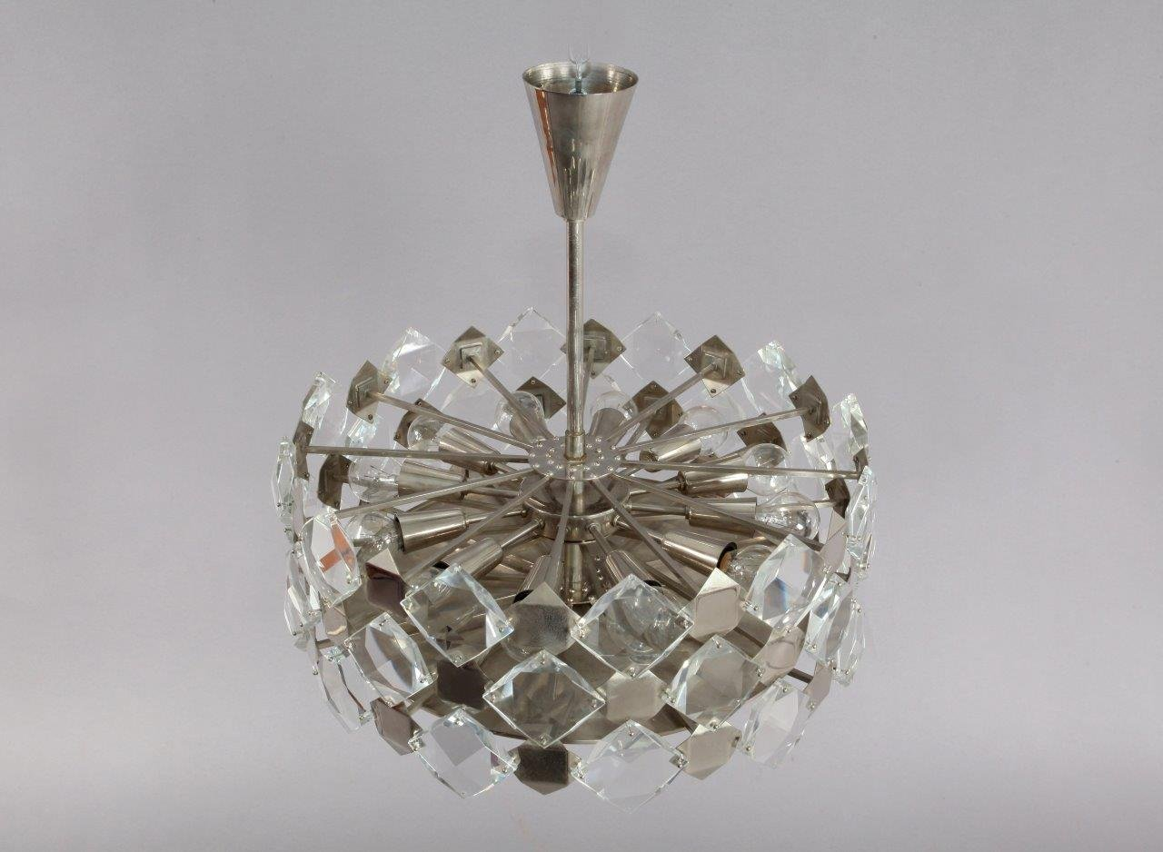 Faceted crystal glass hanging chandelier from bakalowits and shne faceted crystal glass hanging chandelier from bakalowits and shne 1960 for sale at pamono aloadofball Image collections