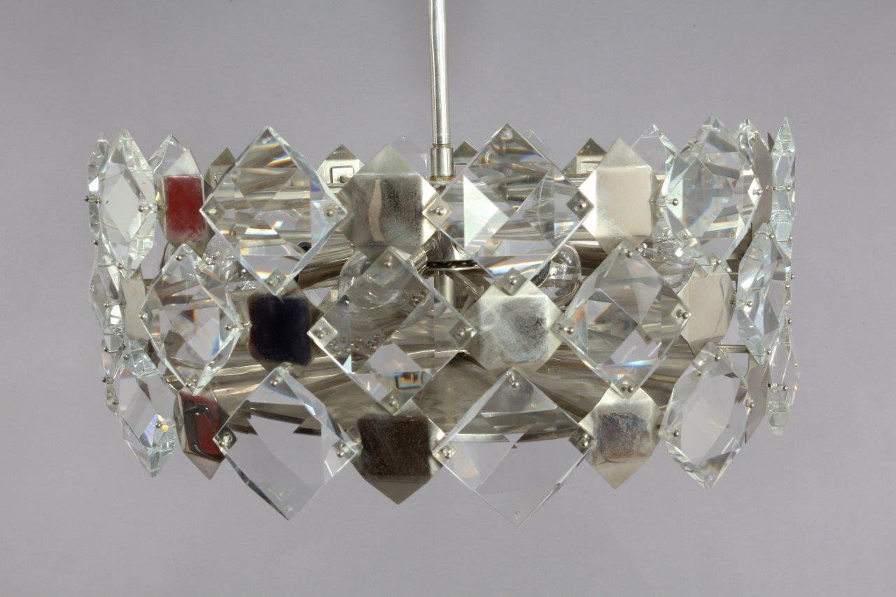 Faceted crystal glass hanging chandelier from bakalowits and shne faceted crystal glass hanging chandelier from bakalowits and shne 1960 arubaitofo Gallery