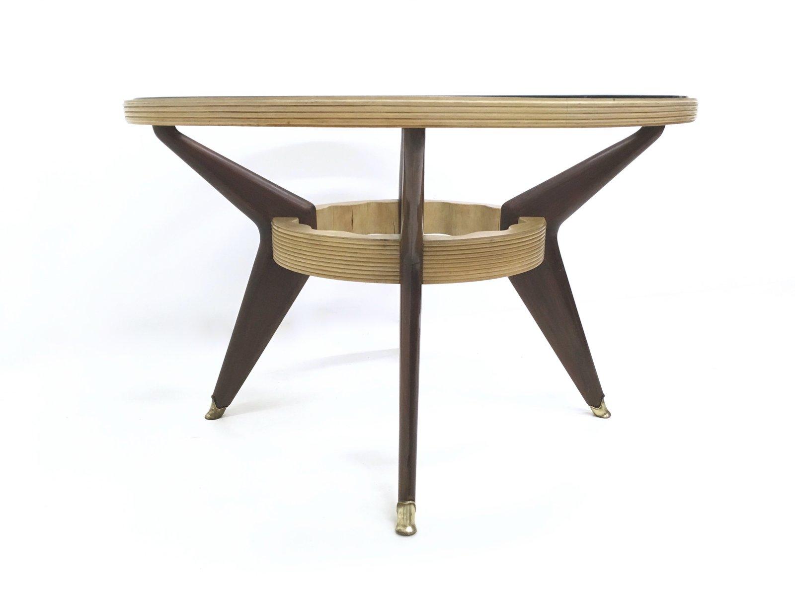 tisch aus mahagoni ahorn glas 1940er bei pamono kaufen. Black Bedroom Furniture Sets. Home Design Ideas