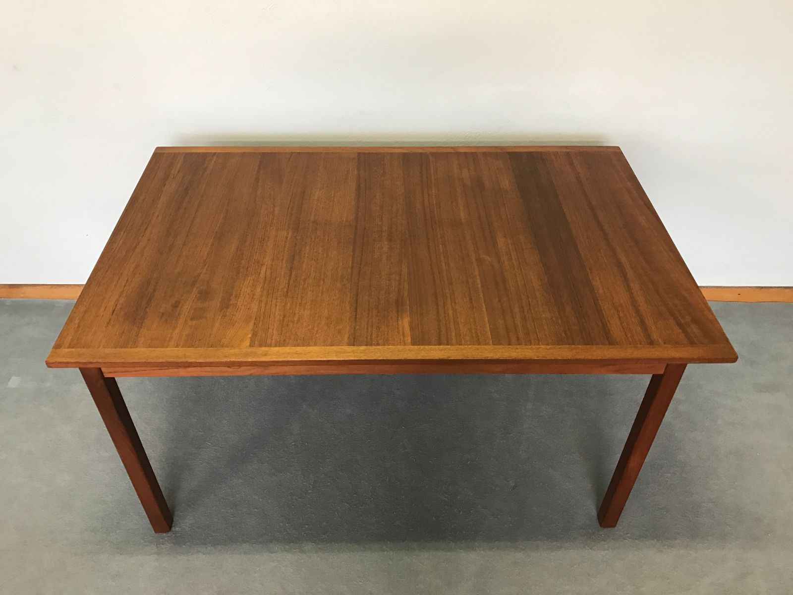 table de salle manger vintage scandinave en teck par nils jonsson en vente sur pamono. Black Bedroom Furniture Sets. Home Design Ideas