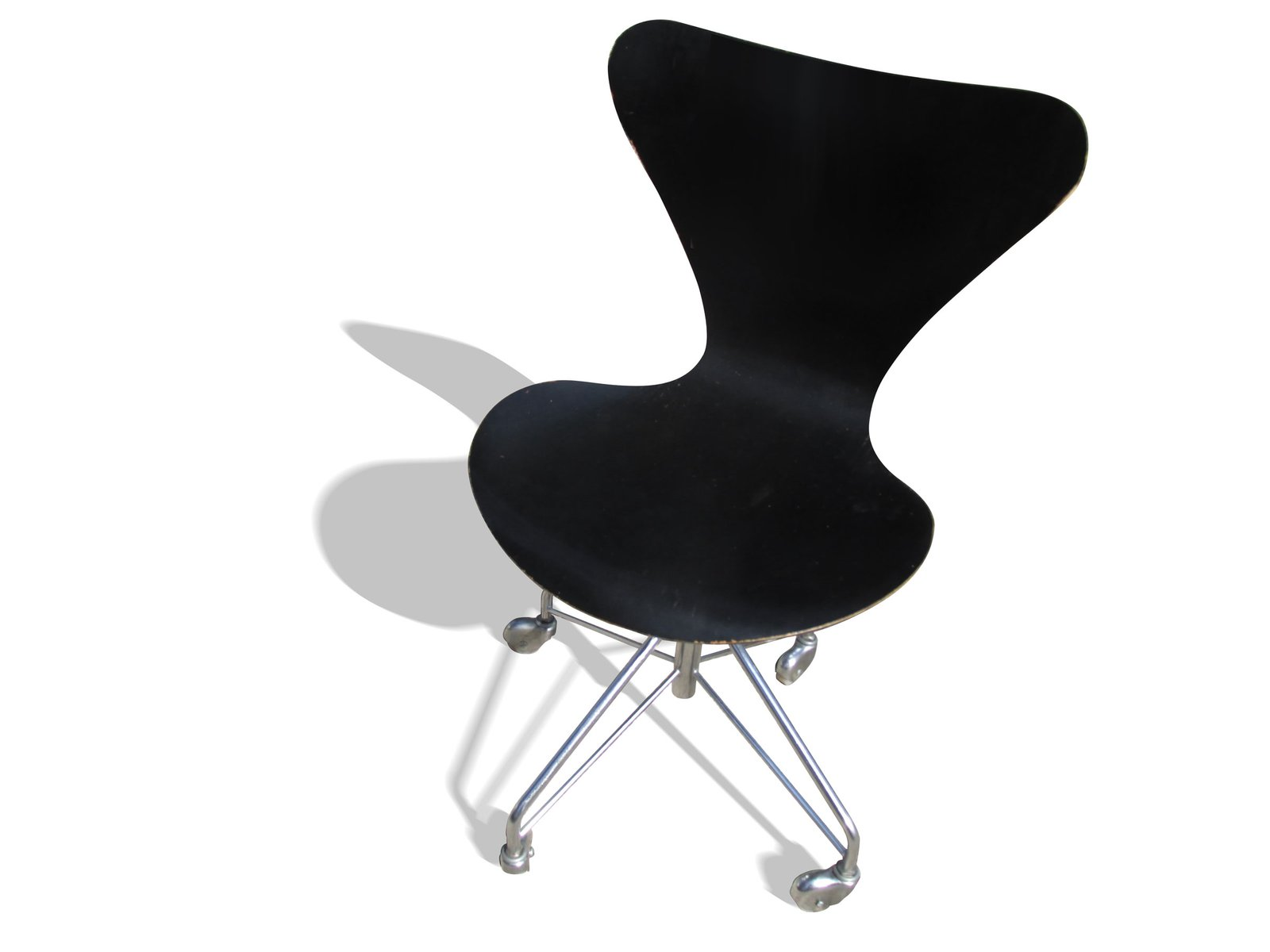 3117 chair by arne jacobsen for fritz hansen 1980s for. Black Bedroom Furniture Sets. Home Design Ideas