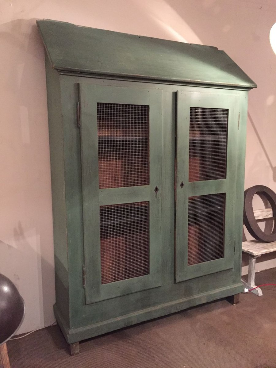 Vintage French Painted Wooden Armoire For Sale At Pamono