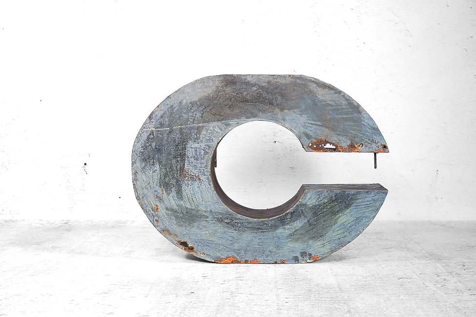 Large Metal Letter C Large Industrial Metal Letter C 1950S For Sale At Pamono