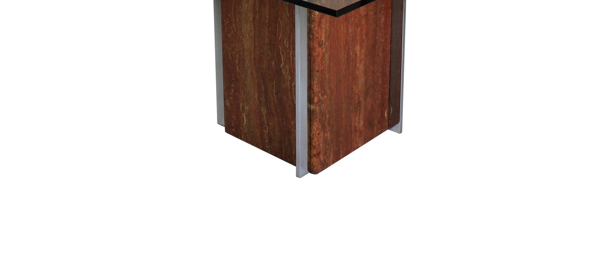 Modernistischer esstisch aus marmor chrom 1960er bei for Esstisch aus marmor