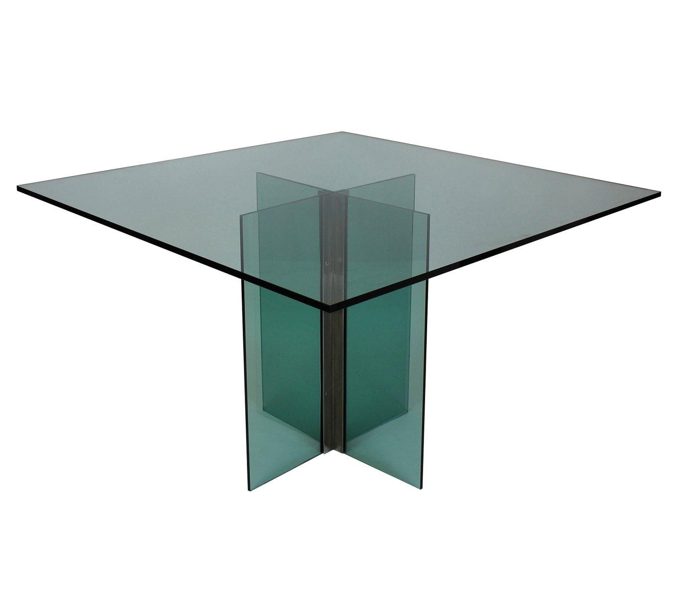 vintage esstisch aus glas chrom bei pamono kaufen. Black Bedroom Furniture Sets. Home Design Ideas