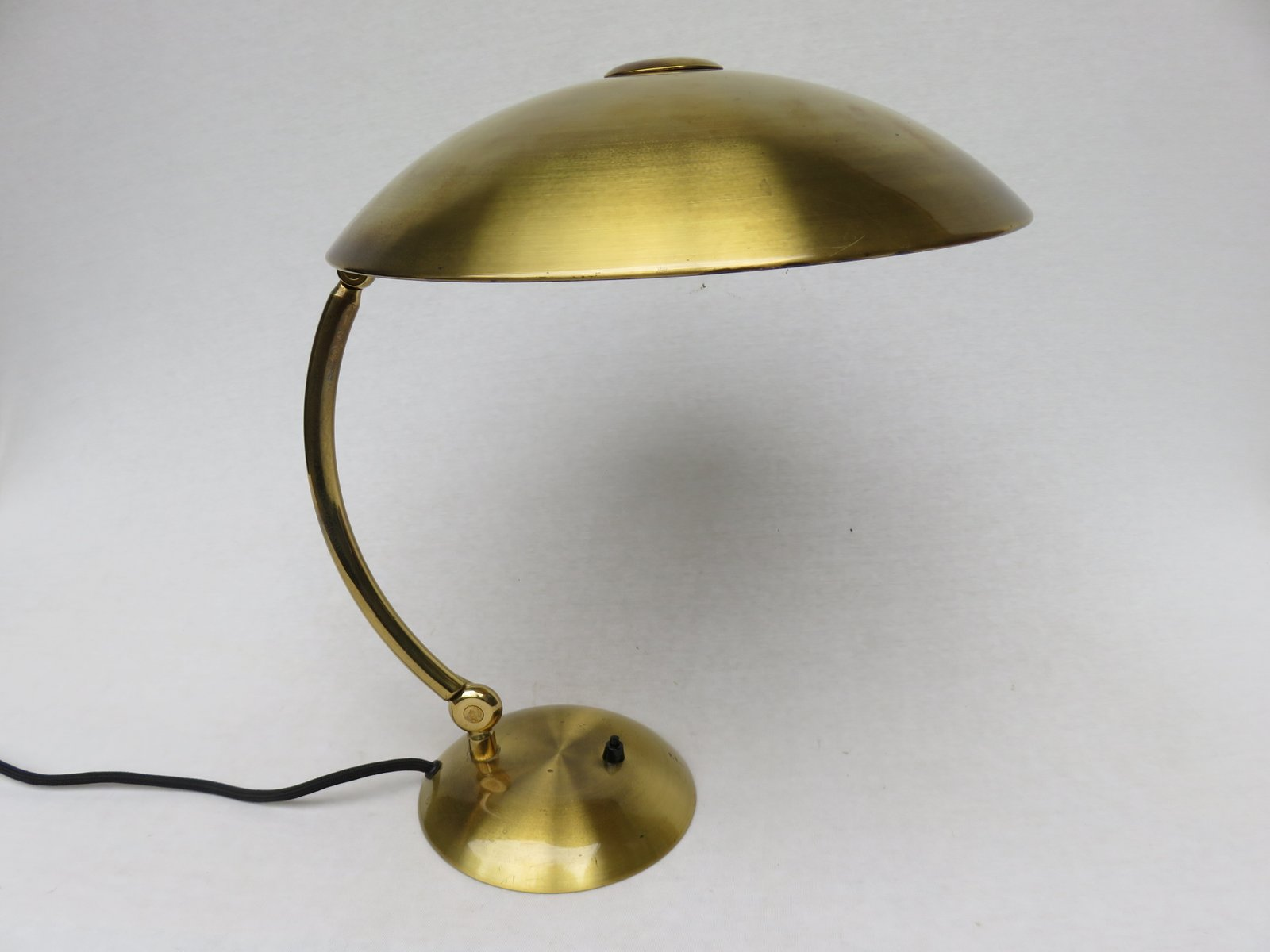 Brass Desk Lamp From Hillebrand, 1930s