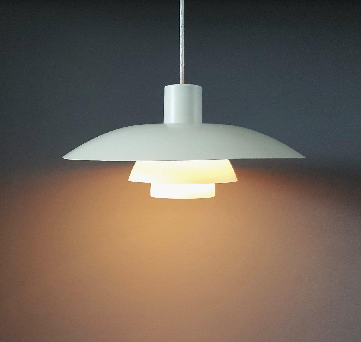 vintage white ph 4 3 pendant lamp by poul henningsen for. Black Bedroom Furniture Sets. Home Design Ideas