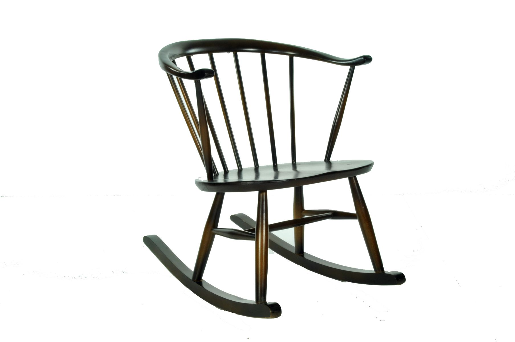 vintage compact rocking chair from ercol for sale at pamono. Black Bedroom Furniture Sets. Home Design Ideas