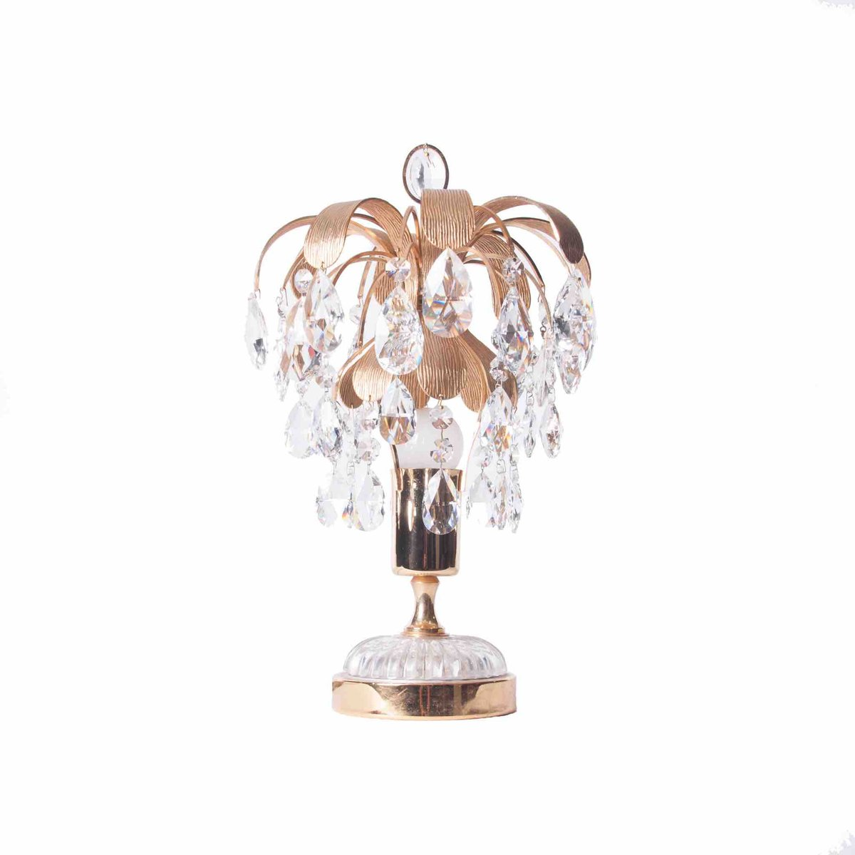 Brass crystal glass table lamp from palwa 1960s for sale at pamono brass crystal glass table lamp from palwa 1960s aloadofball Images