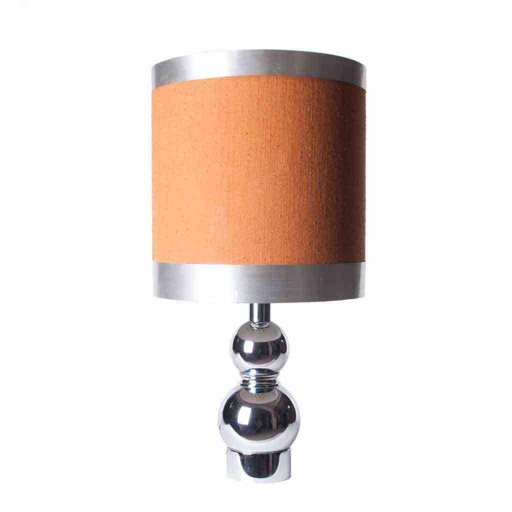 Chrome aluminum lamp with original shade 1960s for sale at pamono chrome aluminum lamp with original shade 1960s aloadofball Gallery