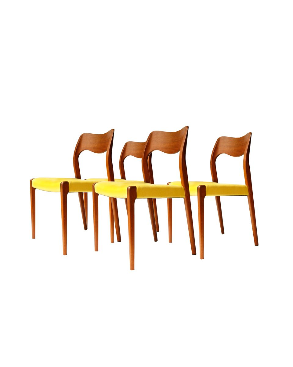 d nische vintage st hle von n o m ller 4er set bei pamono kaufen. Black Bedroom Furniture Sets. Home Design Ideas
