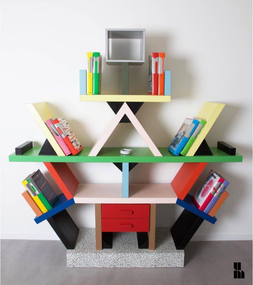 Italian Carlton Bookcase By Ettore Sottsass For Memphis