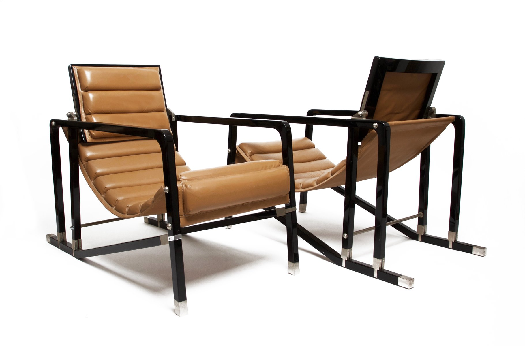 Transat chairs by eileen gray for ecart international for 1980s furniture design