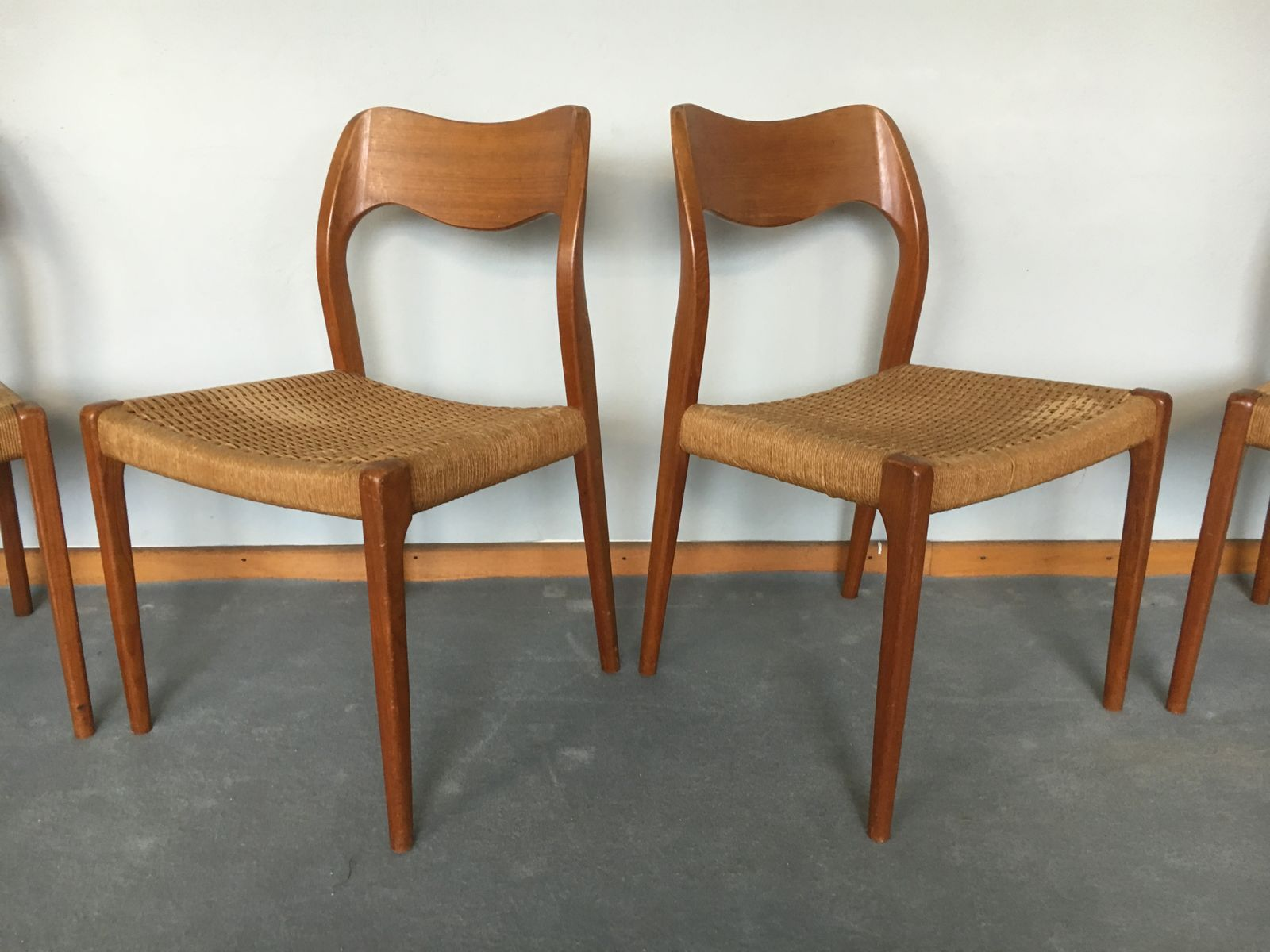 Awesome Model 71 Dining Chairs By Niels O Møller For J L 1960s
