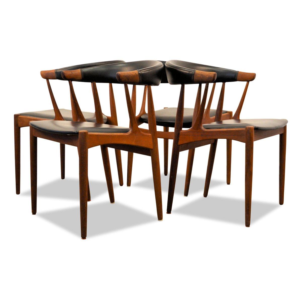 Teak Dining Chairs By Johannes Andersen For Andersen