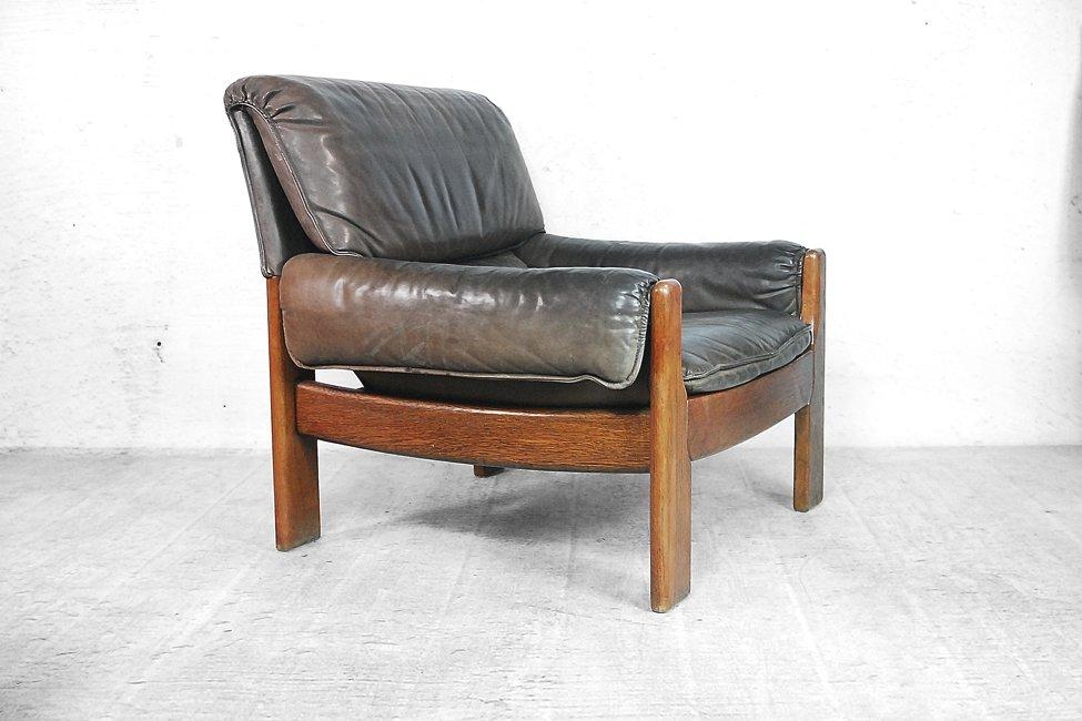 d nische modern ledersessel 1960er 2er set bei pamono kaufen. Black Bedroom Furniture Sets. Home Design Ideas