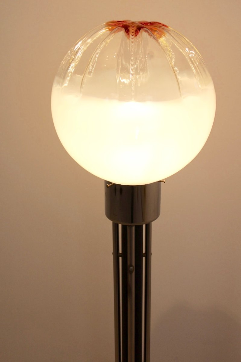 italienische glas stehlampe von mazzega 1970er bei pamono kaufen. Black Bedroom Furniture Sets. Home Design Ideas