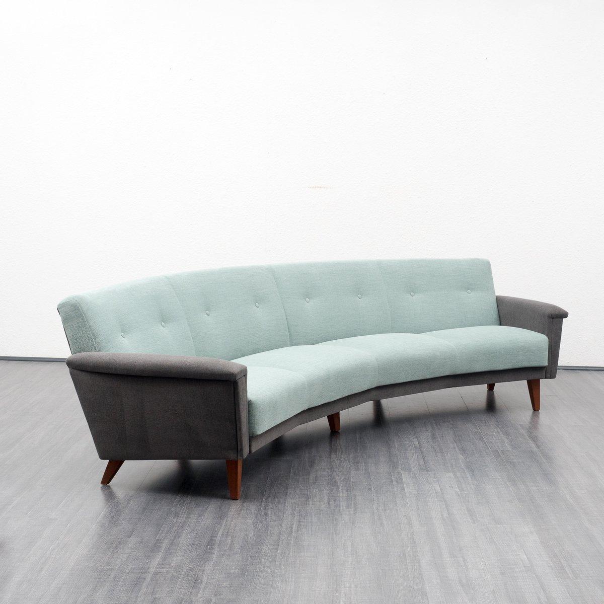 Large Semicircular Sofa 1950s